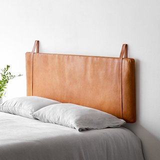 The Citizenry Modern Leather Headboard