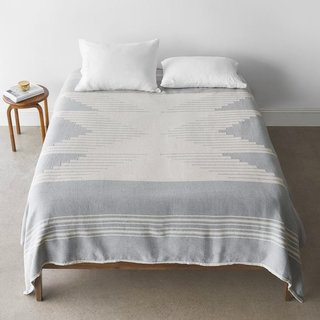 The Citizenry Bico Bed Blanket - Pewter
