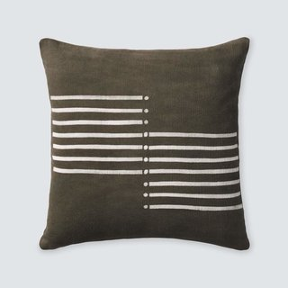 The Citizenry Semaine Mud Cloth Pillow - Olive