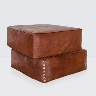 The Citizenry Riad Leather Floor Pillow