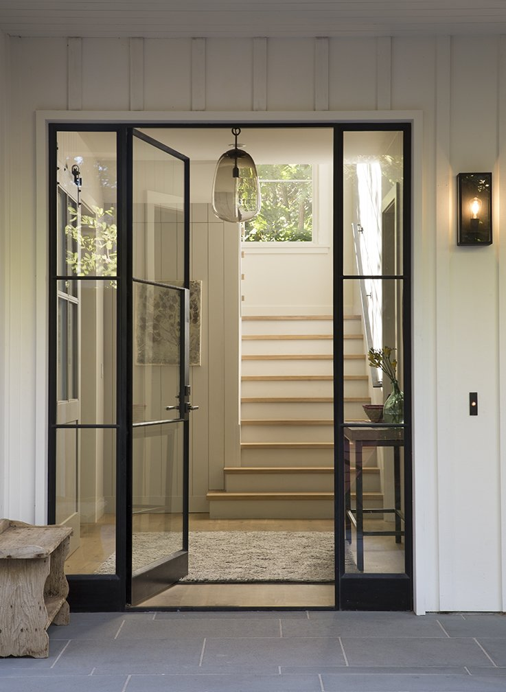 Side-by-Side, White, Metal, Wood, and Doors  Best Doors Side-by-Side White Photos from Menlo Oaks 3 Residence