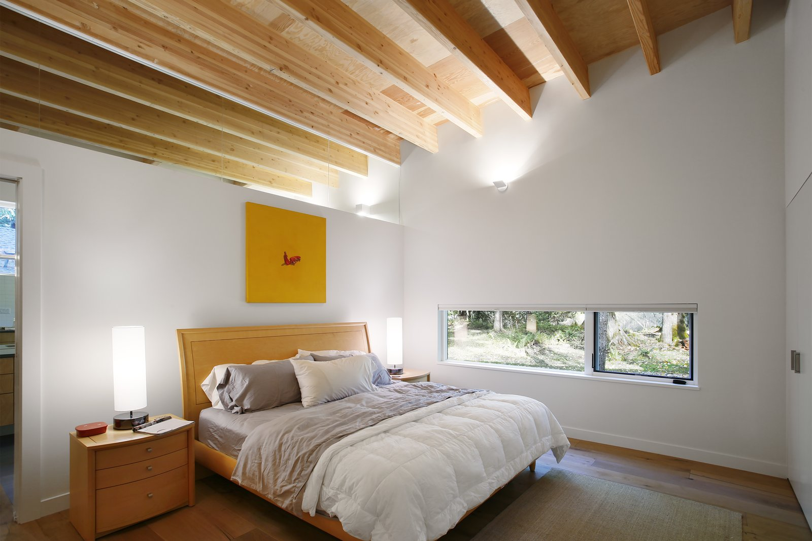 Bedroom  Courtyard House on a River by Robert Hutchison Architecture