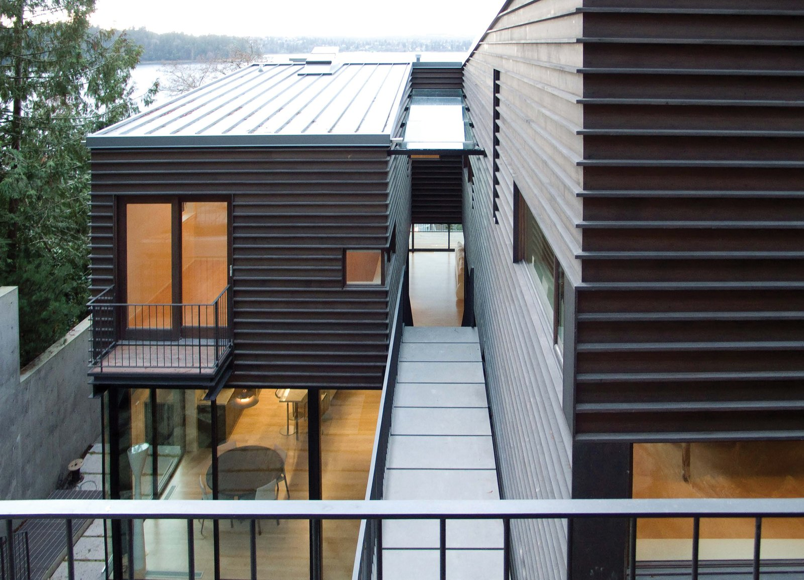 Outdoor and Walkways  Courtyard House on a Steep Site by Robert Hutchison Architecture