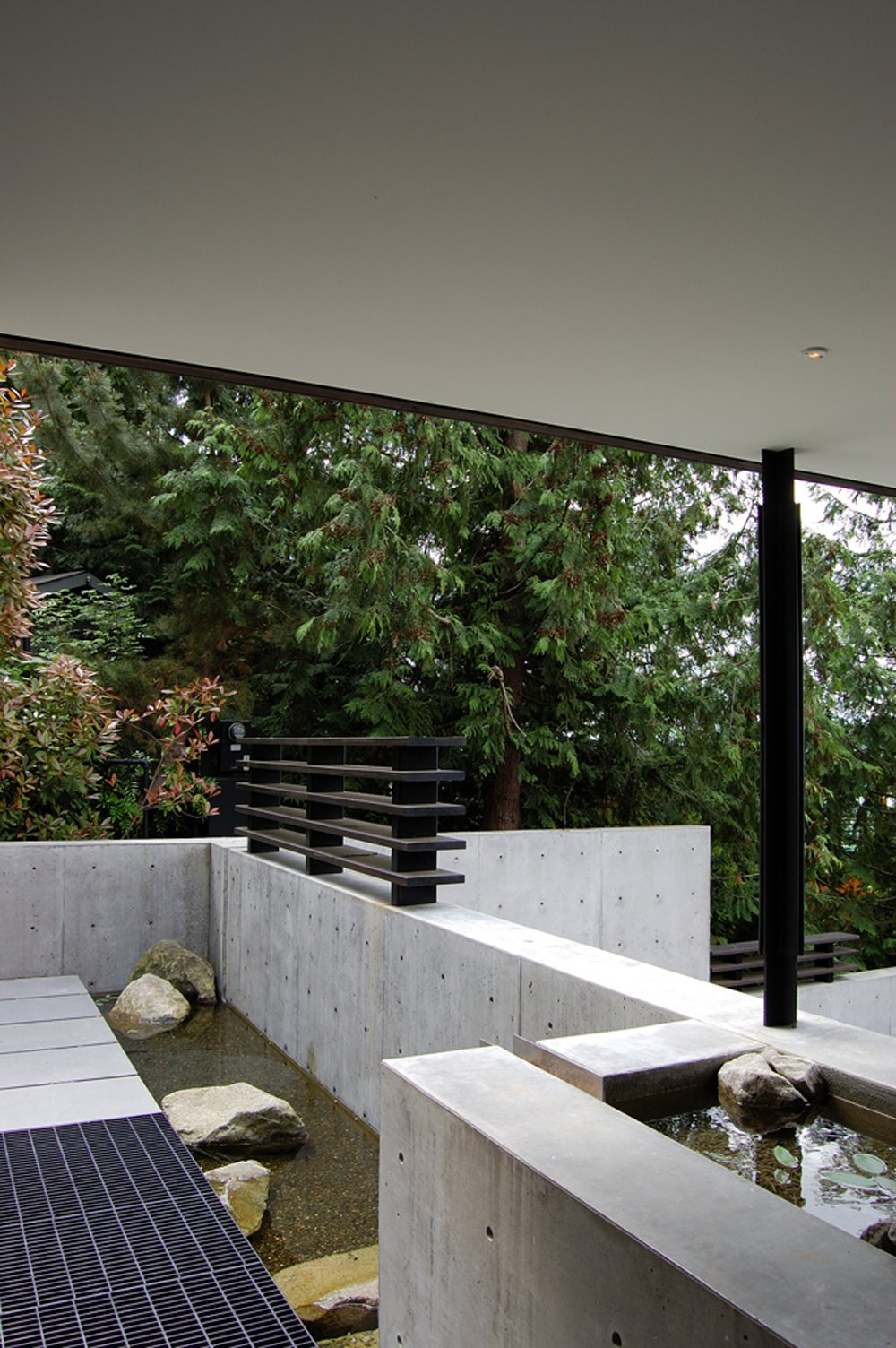 Outdoor, Small Pools, Tubs, Shower, Boulders, and Concrete Pools, Tubs, Shower  Courtyard House on a Steep Site by Robert Hutchison Architecture