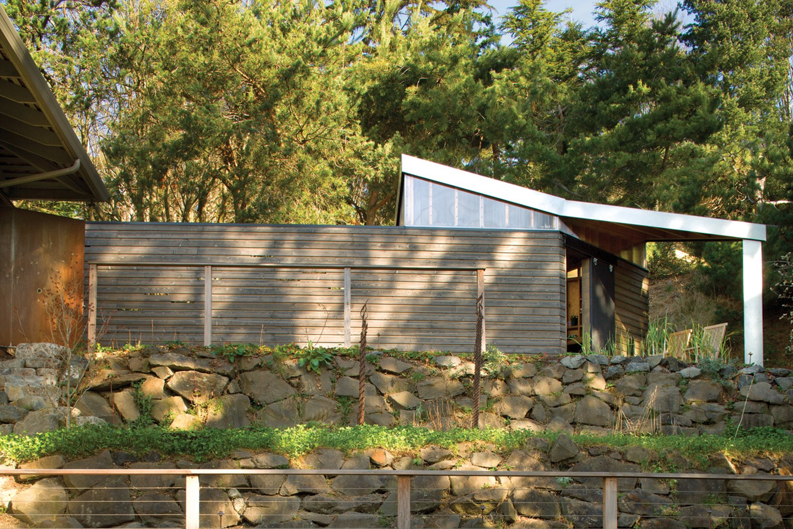 Outdoor  Studio for a Writer by Robert Hutchison Architecture