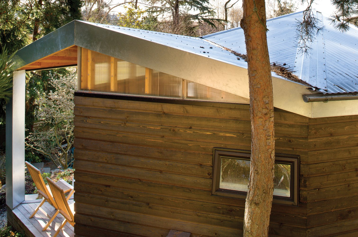 Outdoor and Trees  Studio for a Writer by Robert Hutchison Architecture