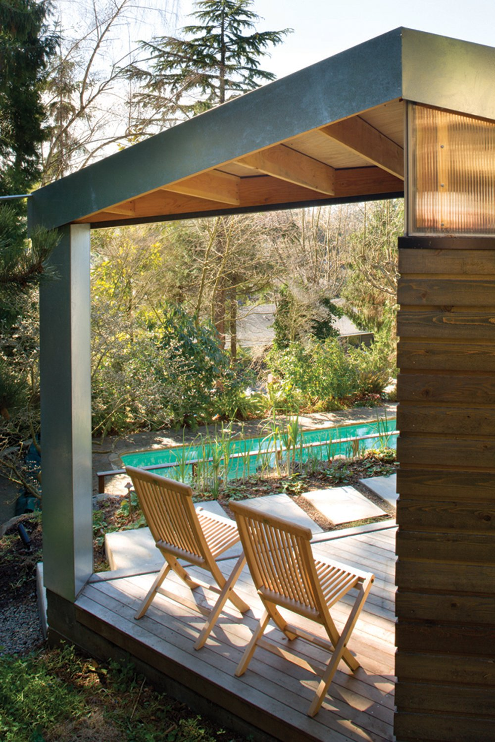 Outdoor and Wood Patio, Porch, Deck  Studio for a Writer by Robert Hutchison Architecture