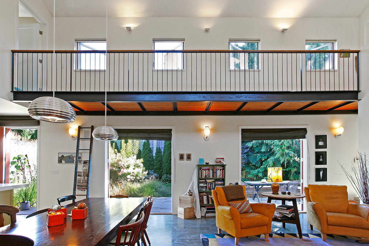 Living Room and Ceiling Lighting  House for a Mother & Daughter by Robert Hutchison Architecture