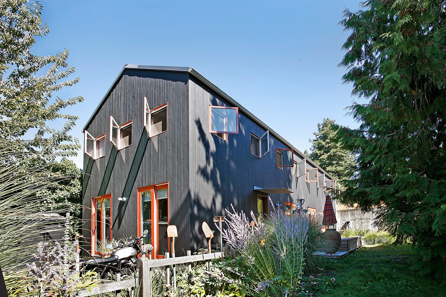 Exterior, House Building Type, Wood Siding Material, and Gable RoofLine  House for a Mother & Daughter by Robert Hutchison Architecture
