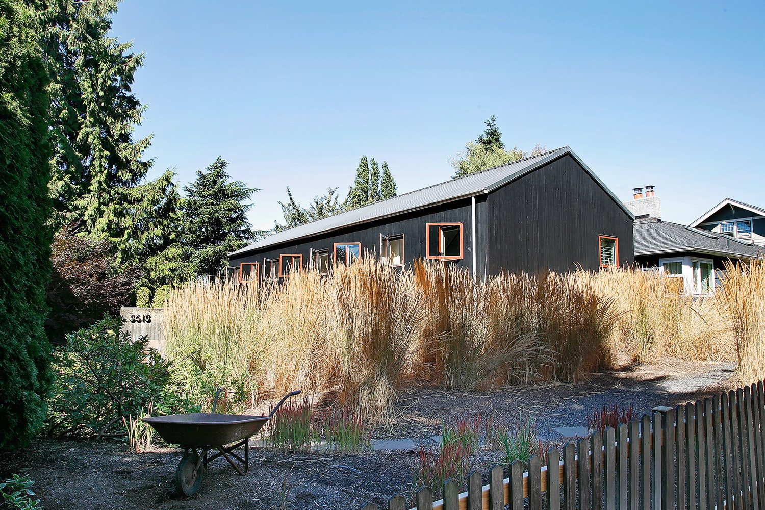 Exterior, House Building Type, Metal Roof Material, Wood Siding Material, and Gable RoofLine  House for a Mother & Daughter by Robert Hutchison Architecture