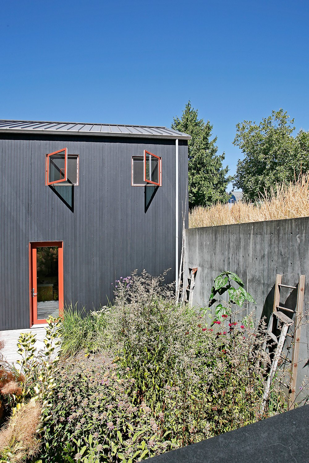 Windows, Casement Window Type, and Metal  House for a Mother & Daughter by Robert Hutchison Architecture