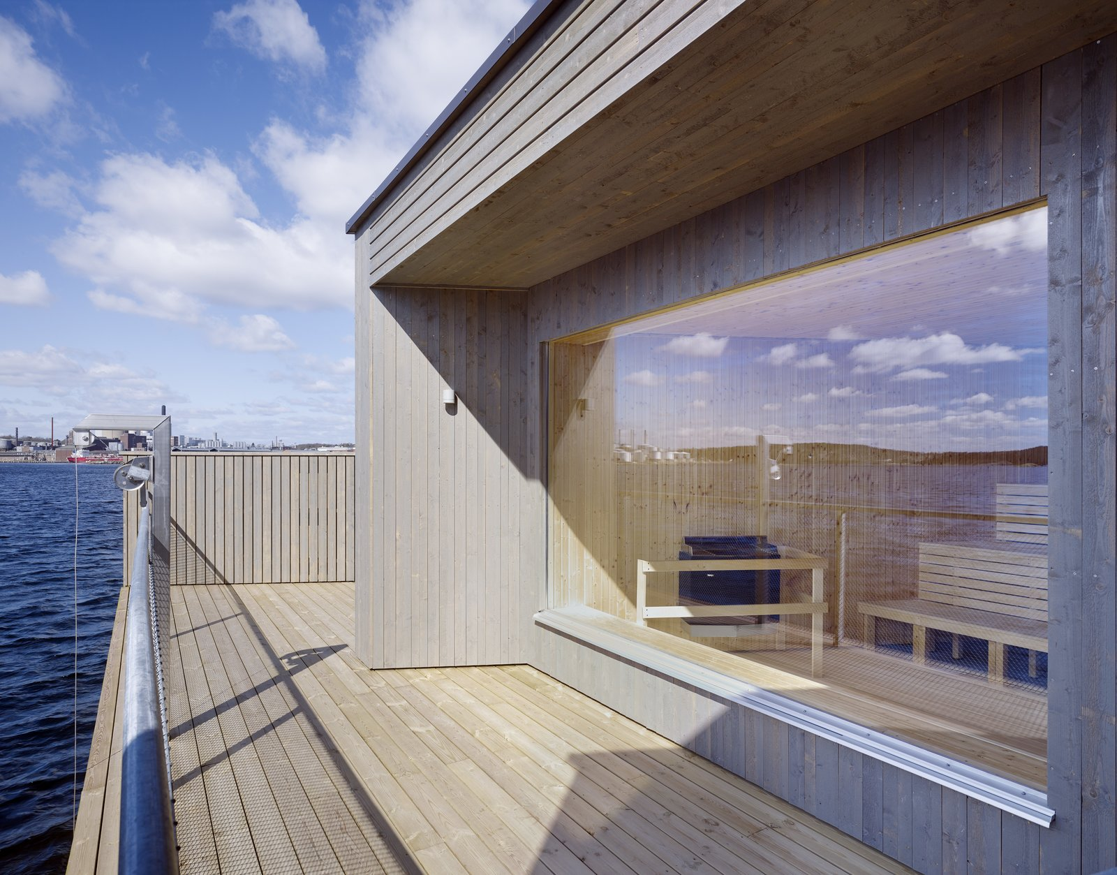 Outdoor and Wood Patio, Porch, Deck  Photo 3 of 6 in A Swedish Coastal Town Commissions an Otherworldly Bathhouse