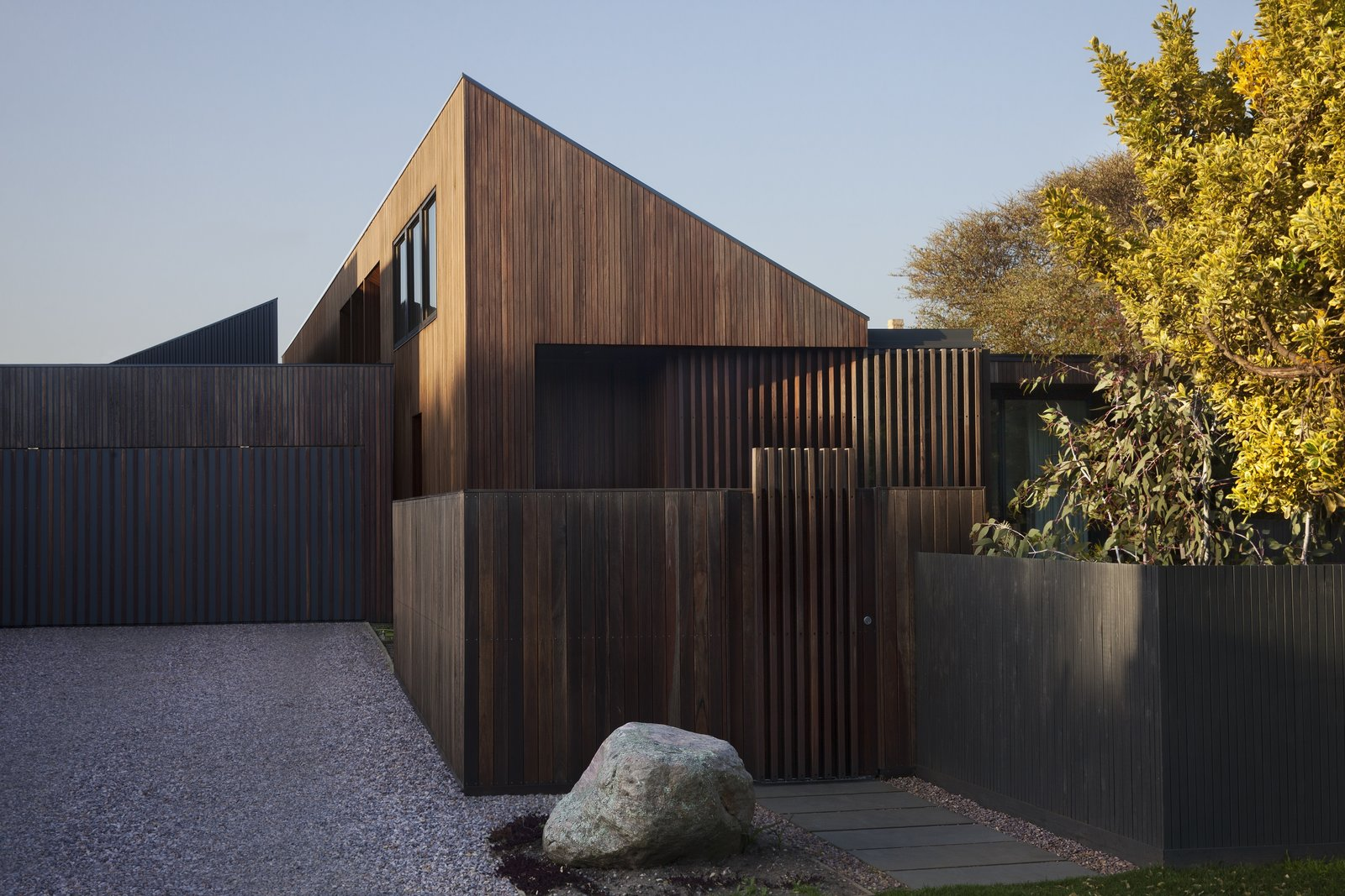 Exterior, House Building Type, Wood Siding Material, and Shed RoofLine  Photo 6 of 6 in A Timber-Clad Home in Australia Is a Striking Place to Grow Old In