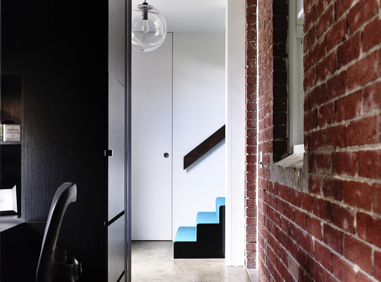Staircase  Photo 5 of 10 in Old Meets New in This Modern Extension to an Edwardian House in Melbourne