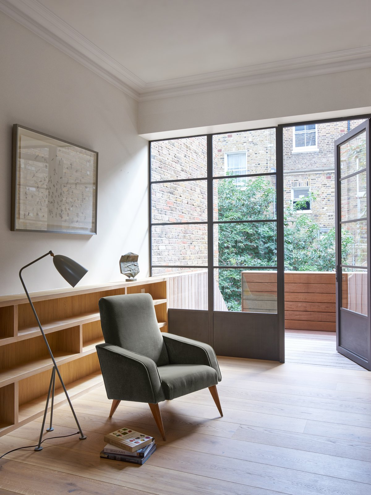 Living Room, Chair, and Floor Lighting  Photo 2 of 10 in A Once-Derelict London House Restored With Modern Elegance