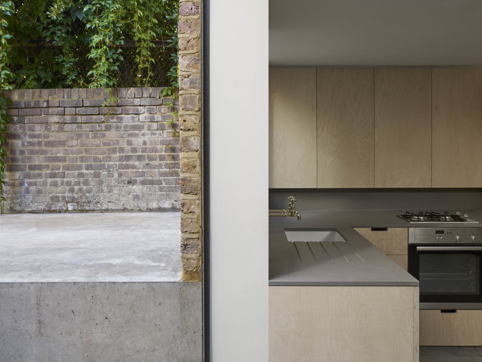 Kitchen  Photos from A Once-Derelict London House Restored With Modern Elegance