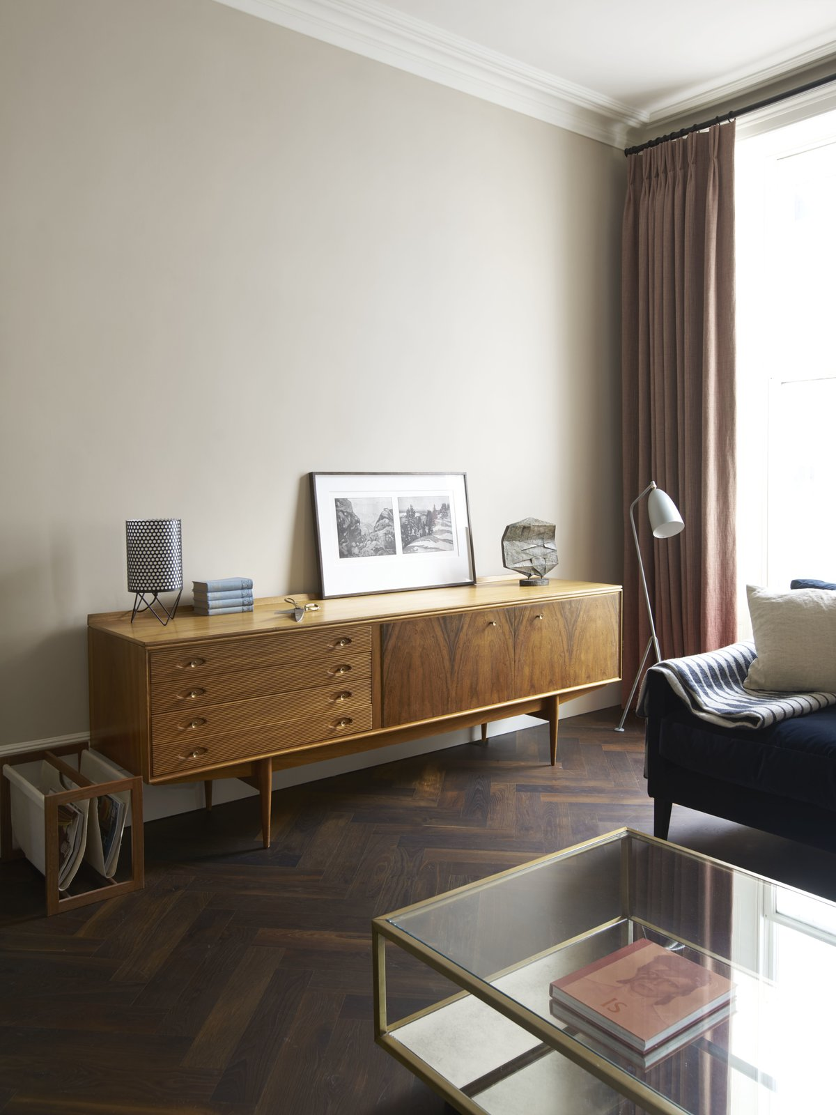 Living Room, Chair, Console Tables, and Coffee Tables  Photo 6 of 10 in A Once-Derelict London House Restored With Modern Elegance