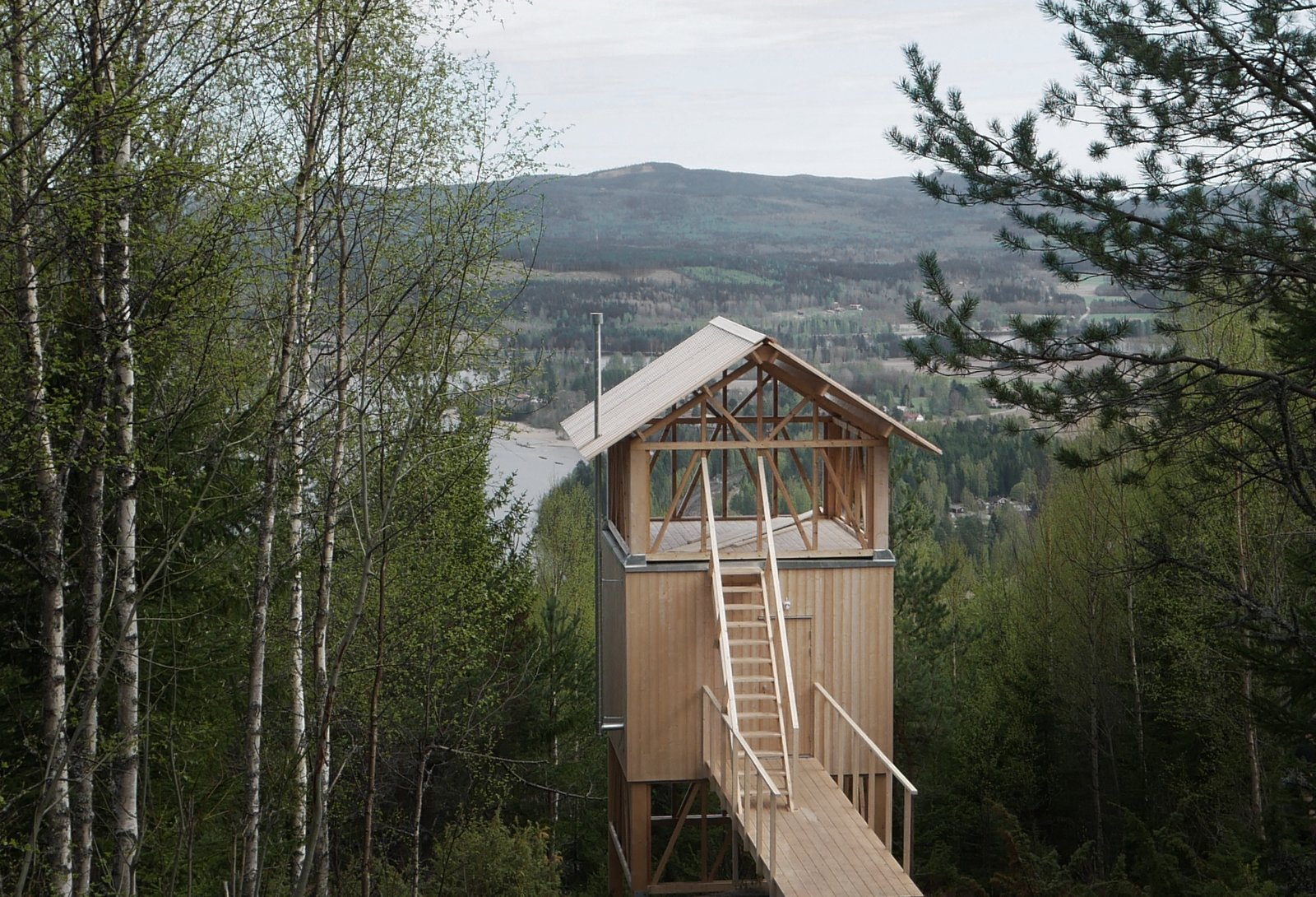 Unwind In A Simple Swedish Cabin With A Meditative Lookout On The Roof