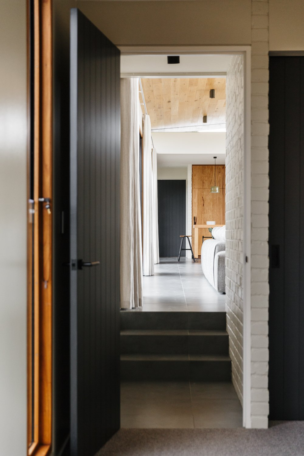 Hallway  Photo 6 of 11 in The Surrounding Countryside Inspires a Family Home in Australia's Adelaide Hills