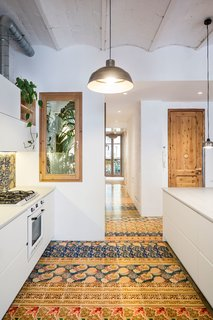 A Dramatic Apartment Renovation in Barcelona Features Salvaged Tile and Brick - Photo 7 of 13 -