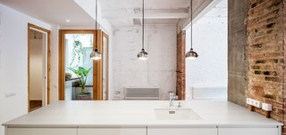 A Dramatic Apartment Renovation in Barcelona Features Salvaged Tile and Brick - Photo 5 of 13 -