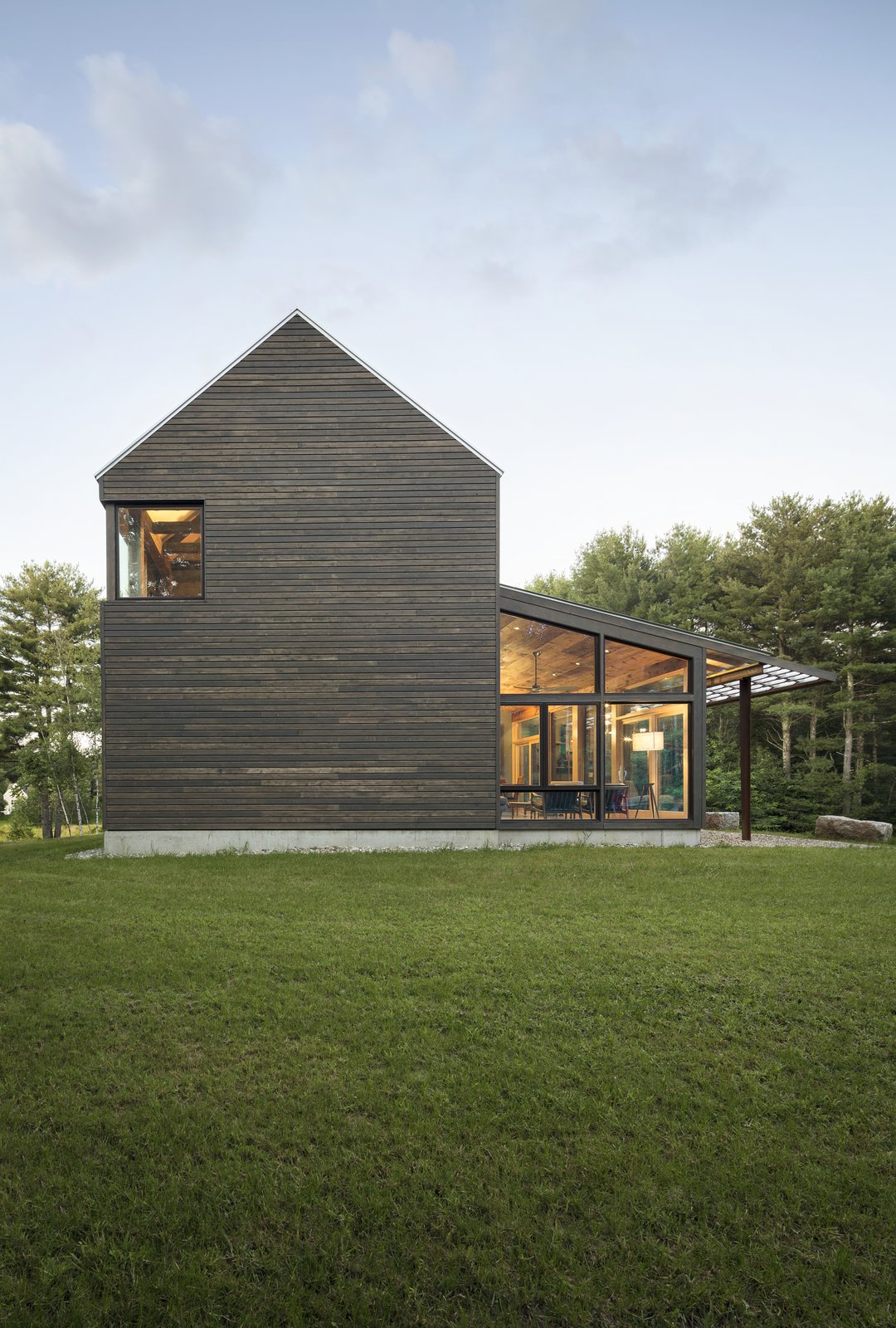 Exterior, House Building Type, Farmhouse Building Type, Shingles Roof Material, and Wood Siding Material  Best Photos from A Maine Farmhouse Built With Salvaged Materials