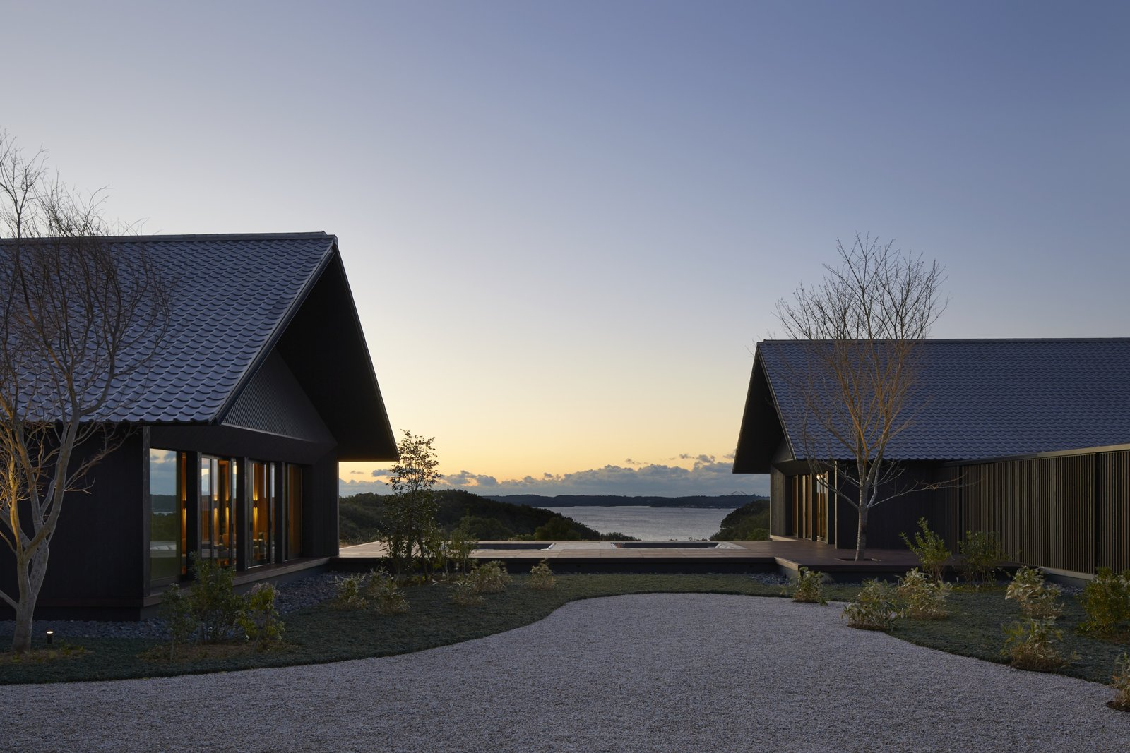 Exterior, Tile Roof Material, House Building Type, and Wood Siding Material  Photo 8 of 10 in A Sleek Resort in a Japanese National Park Reinterprets Tradition