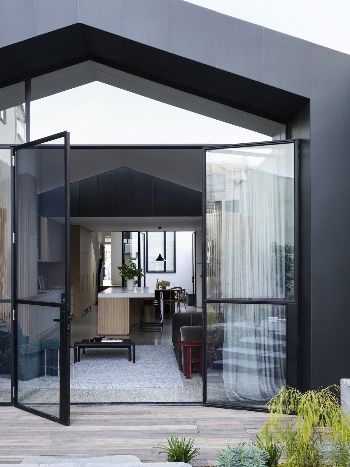 Doors, Swing Door Type, Metal, and Exterior  Materials from Soak In the Greatness of This Gorgeous Melbourne Addition