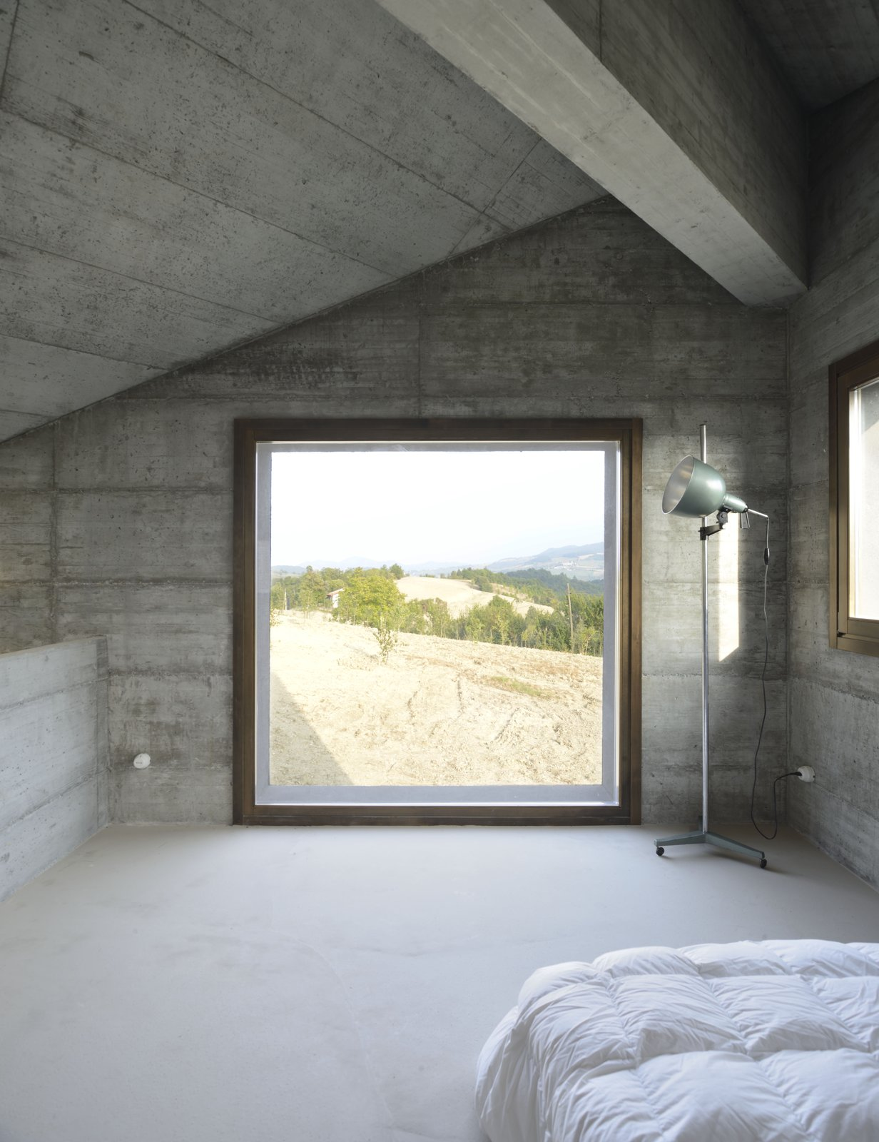 Windows, Picture Window Type, and Wood  Photo 10 of 11 in A Concrete Hideaway in the Italian Countryside