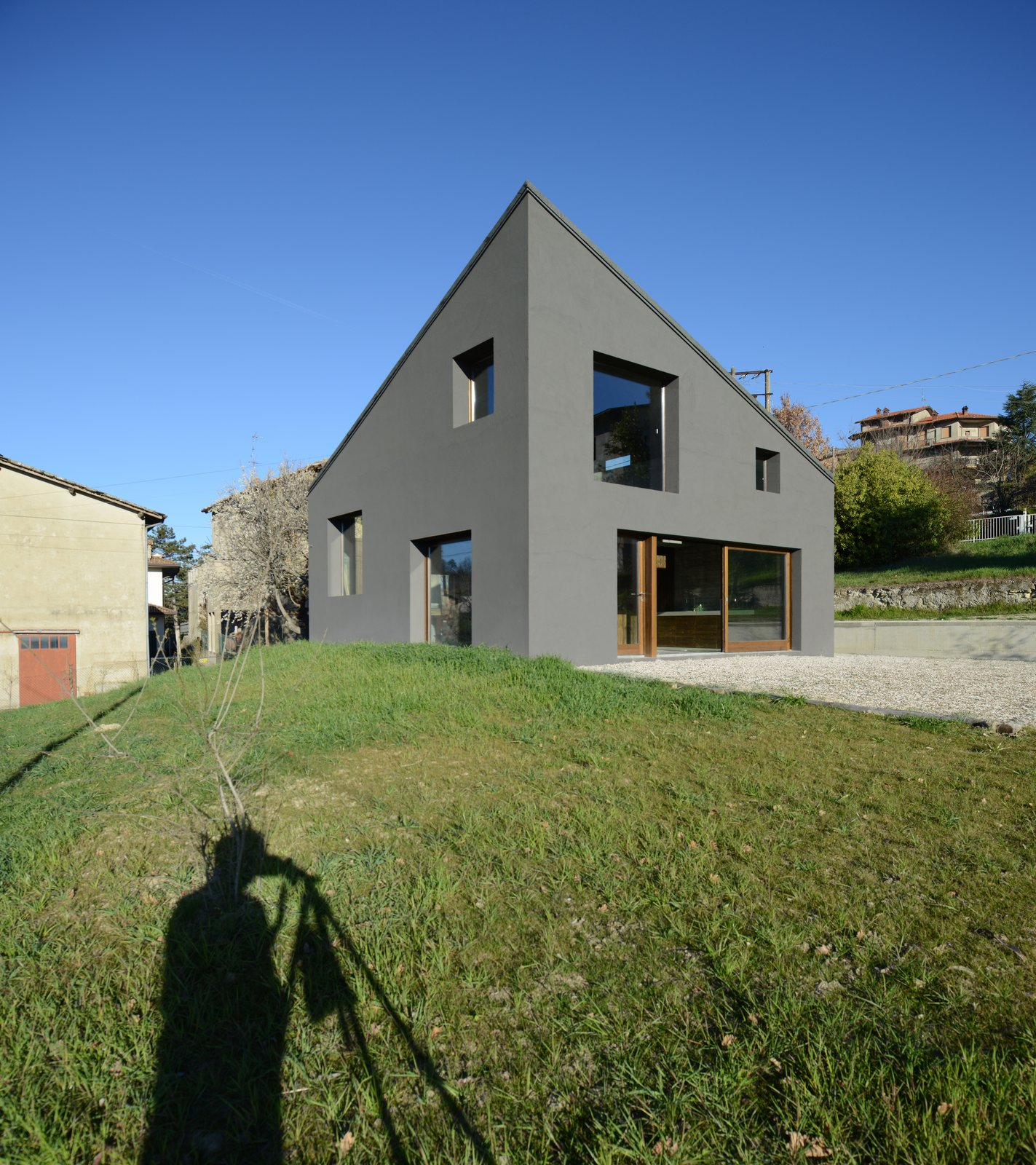Exterior, House Building Type, and Concrete Siding Material  Photo 11 of 11 in A Concrete Hideaway in the Italian Countryside