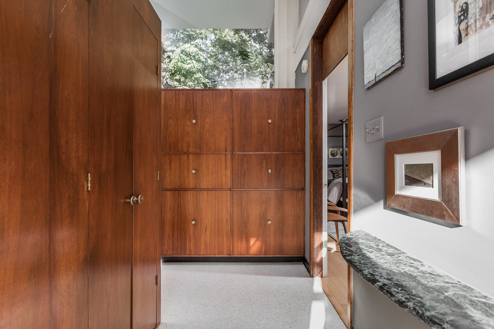Storage Room, Cabinet Storage Type, and Closet Storage Type  Photo 8 of 10 in A Midcentury Gem by a Famed Indiana Architect Offered at $450K
