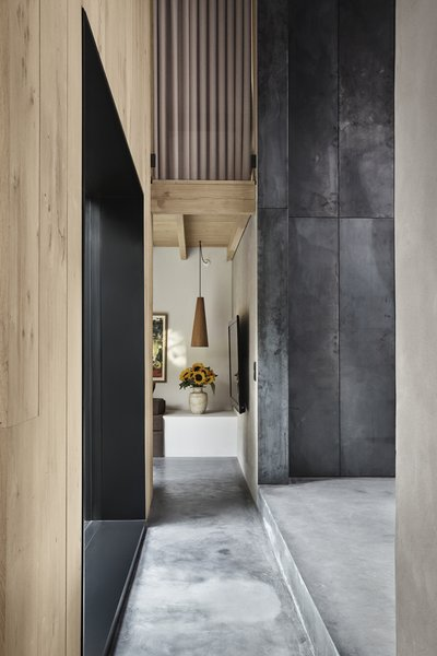 Hallway and Concrete  Best Hallway Photos from An Old Factory in Copenhagen Is Now a Photographer's Dream Home