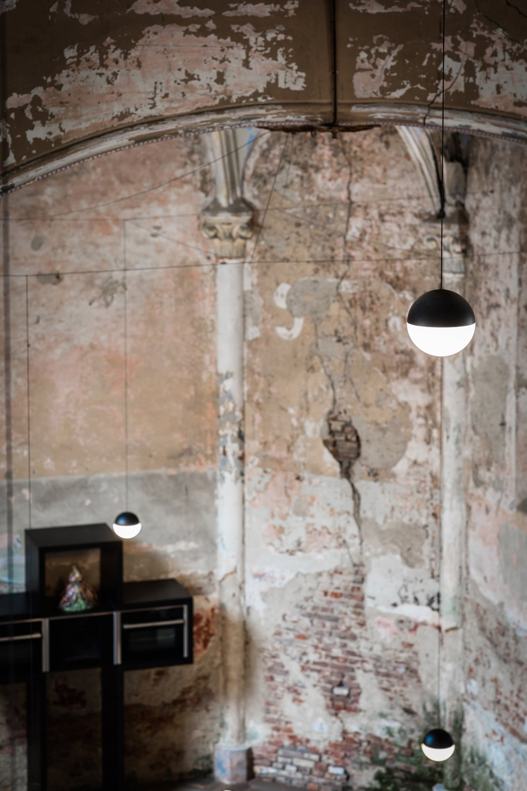 Kitchen and Pendant Lighting  Photo 6 of 8 in This Chapel-Turned-Office in Belgium Is Unbelievably Cool