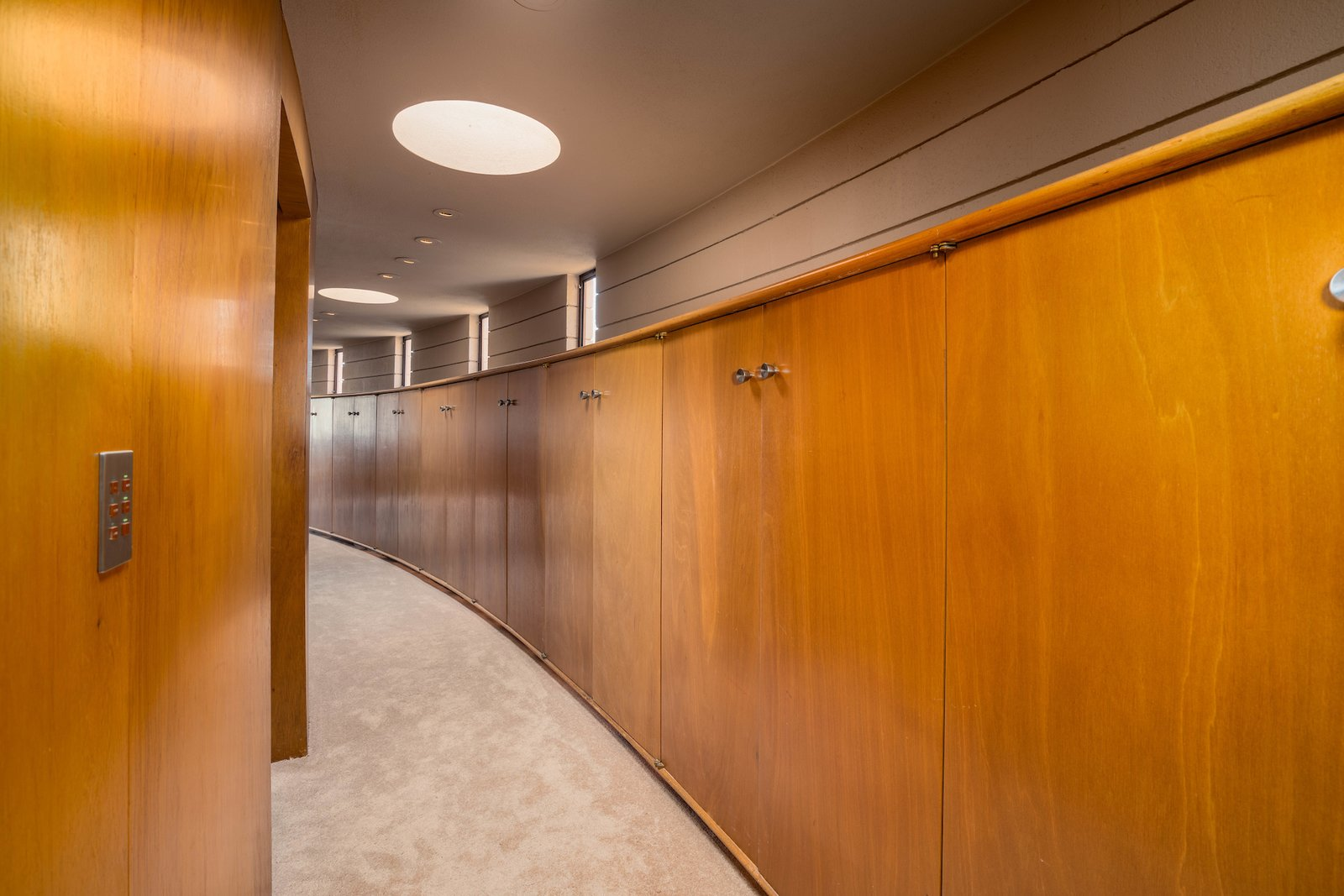 Hallway and Carpet Floor  Photo 11 of 15 in The Last House Designed by Frank Lloyd Wright Hits the Market at $3.25M