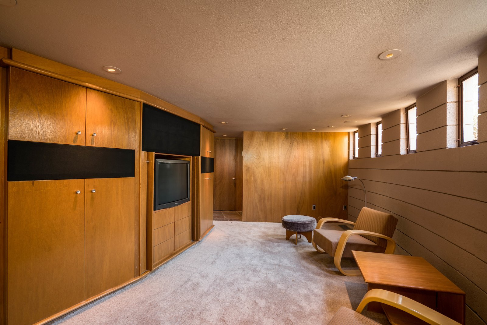Shed & Studio and Home Theater Room Type  Photo 8 of 15 in The Last House Designed by Frank Lloyd Wright Is Being Auctioned Without Reserve