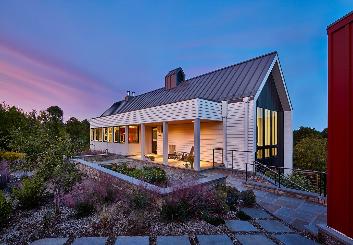 A Modern Farmhouse Blends Community Minded Living With The Country Landscape