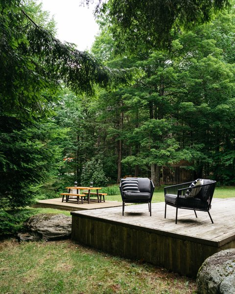 The wrap-around deck is a fantastic summer destination, outfitted in finds from Amazon and Target.