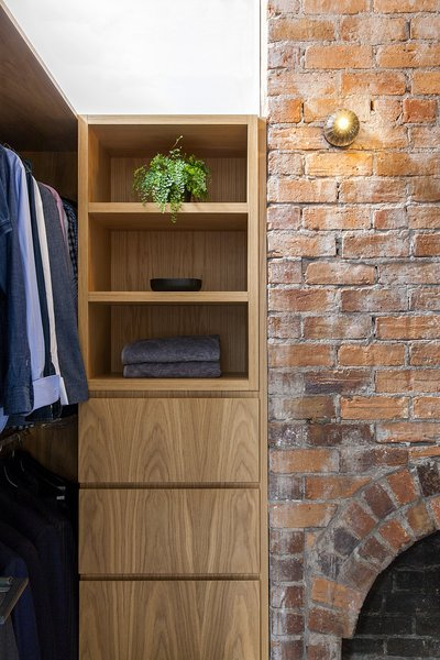 Part of the project involved refurbishing the heritage part of the home. Old brickwork meets new oak joinery fabricated by COS Interiors, who were responsible for all of the home's new woodwork.