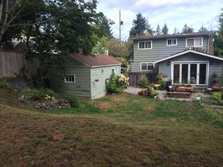 Before: the 250-square-foot garage on the existing lot.