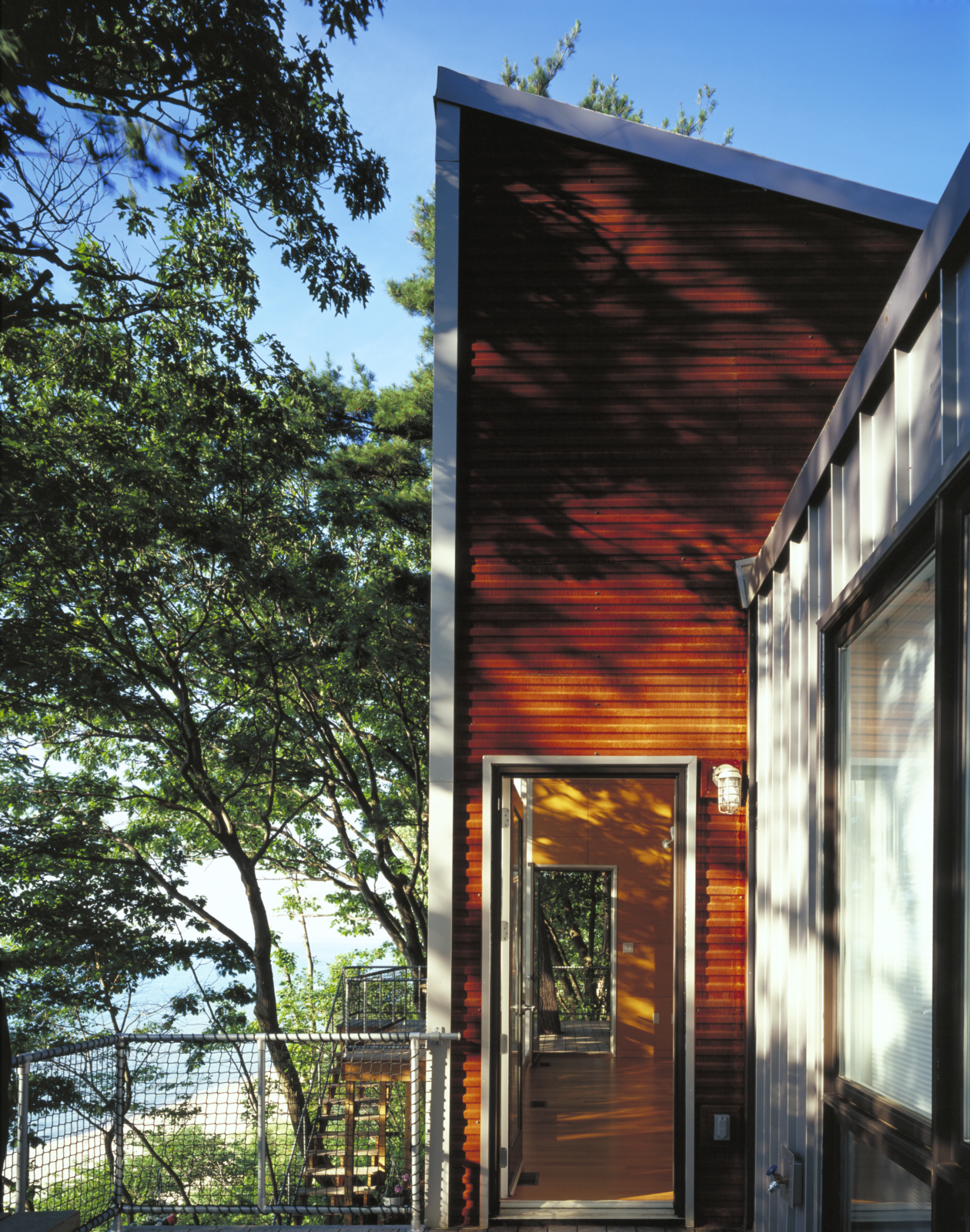 Exterior, House Building Type, and Metal Siding Material  Harbert Dune Home by Kuklinski + Rappe Architects