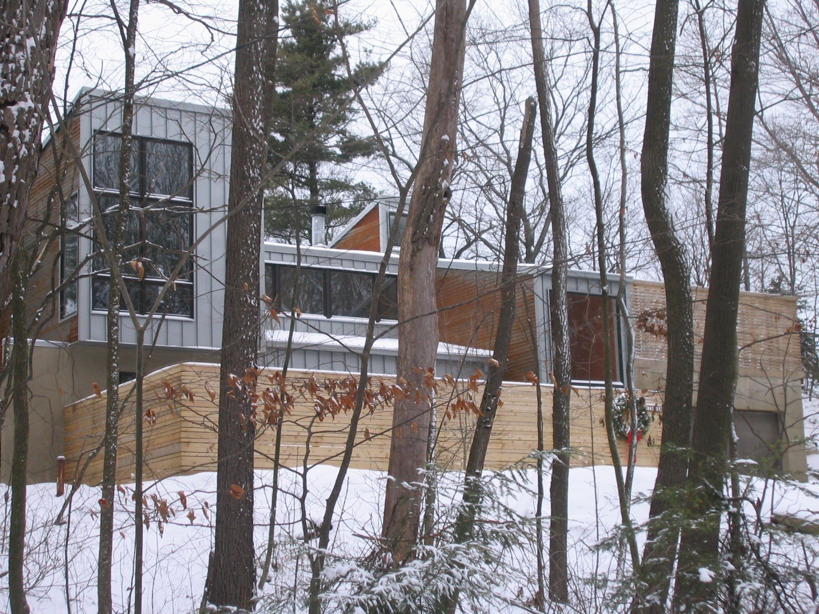 Exterior and Metal Siding Material  Harbert Dune Home by Kuklinski + Rappe Architects