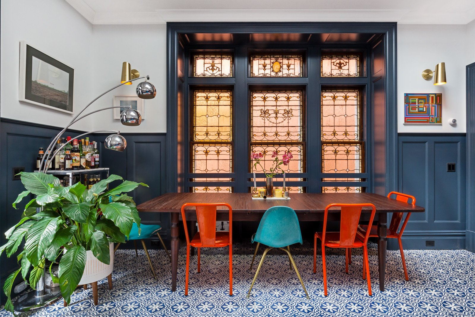 Dining Room and Ceramic Tile Floor  A LONG TOWNHOUSE SETS THE RIGHT FLOW FOR MODERN LIVING (PART 2, SWEETEN project) by Photo by Pixy