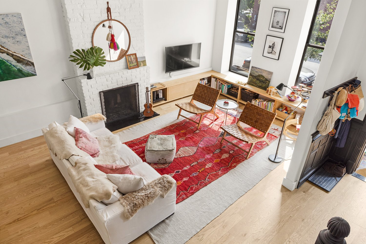 Living Room  Bed Stuy Family Adobe by Pixy Interiors