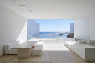 Each room encases a private view of the ocean.