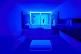 Individual lighting controls allow guests to transform their suites into a surrealistic escapes.