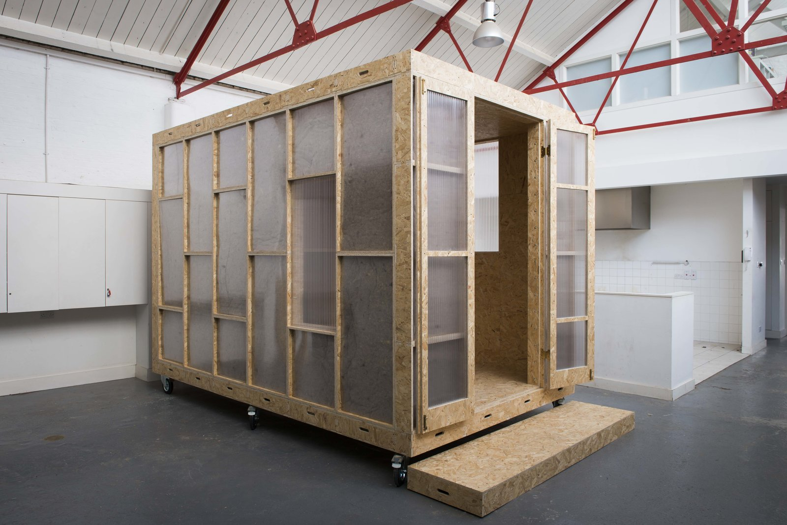 Small Patio, Porch, Deck, Shed & Studio, and Living Space Room Type  Photo 2 of 9 in A New Concept For Modular, Affordable Housing Is Coming to London's Vacant Buildings