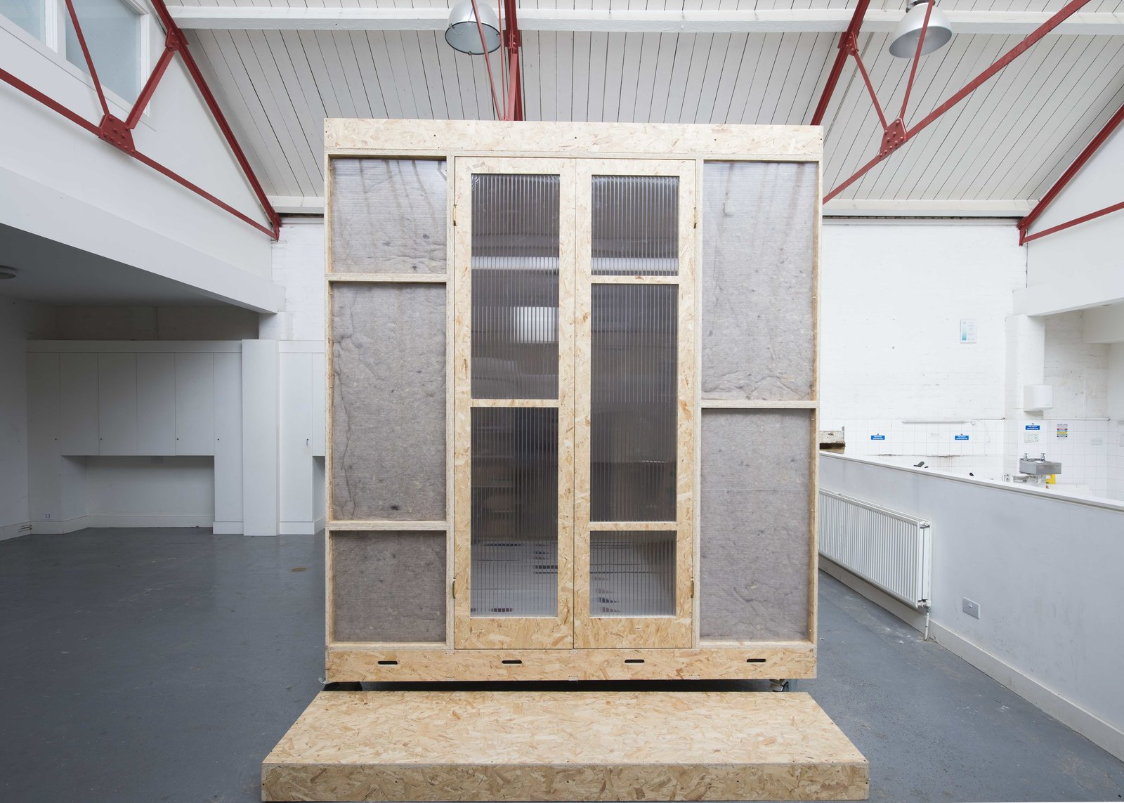 Living Space Room Type, Doors, Exterior, Wood, and Folding Door Type  Photo 3 of 9 in A New Concept For Modular, Affordable Housing Is Coming to London's Vacant Buildings