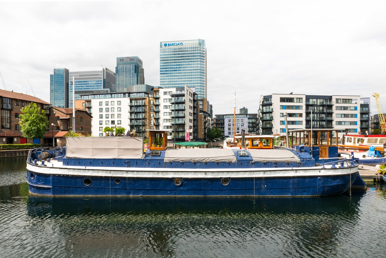 Photo 1 of 9 in Londoners Can Live in This Scandinavian-Inspired, Converted Barge For $424K