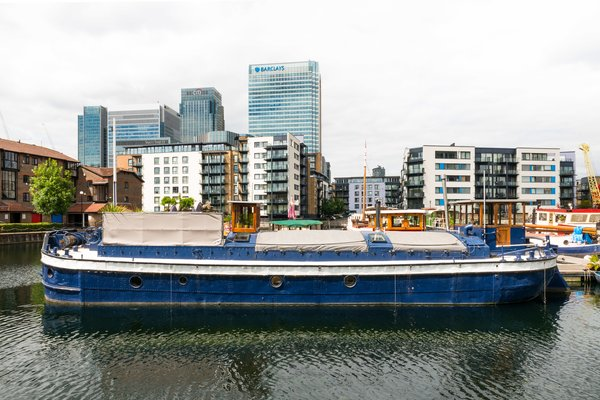 Londoners Can Live in This Scandinavian-Inspired, Converted Barge For $424K - Photo 1 of 9 -