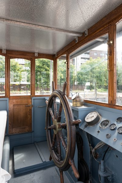 The Wheelhouse has been fully restored and provides 360-degree views through the glazing.